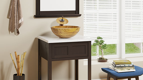 MR Direct bamboo sinks are an environmentally sound choice for any bath
