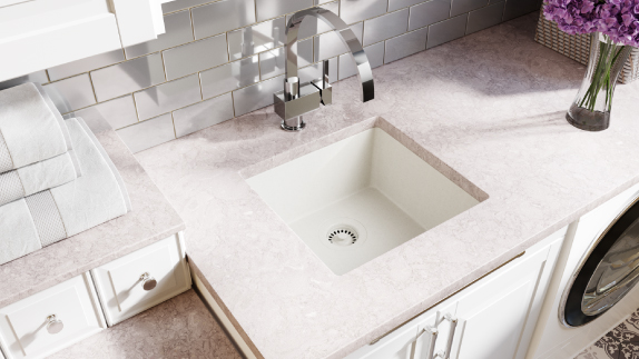 Our bar sinks come in three materials to match any room.