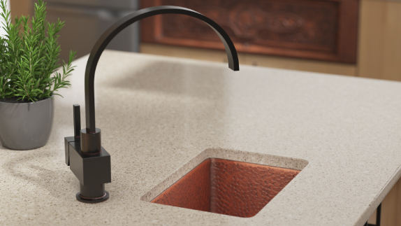 Choose between topmount and undermount installations for our bar sinks.