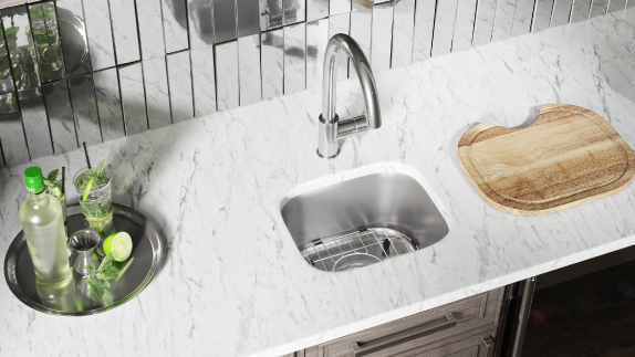 Our bar sinks offer a range of benefits and features, including fitted accessories