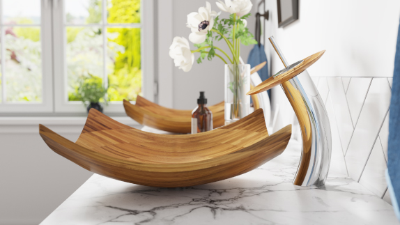 A vessel sink will be a great conversation piece in your bathroom, especially with MR Direct's stunning designs.