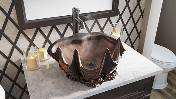 MR Direct bronze sinks are only made with high quality pure bronze