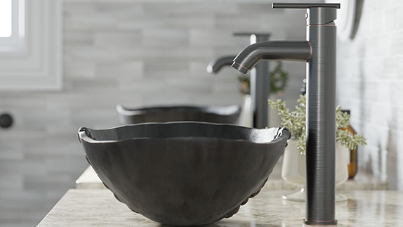 Our bronze sinks come in a variety of styles