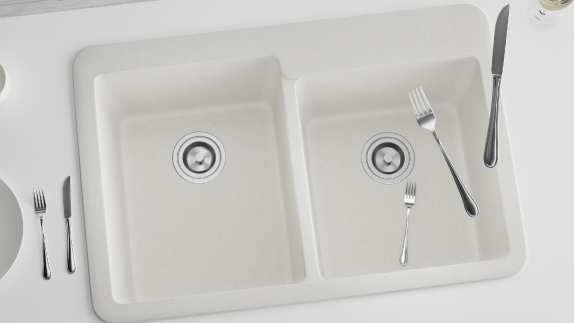 MR Direct TruGranite sinks come in both topmount and undermount installations