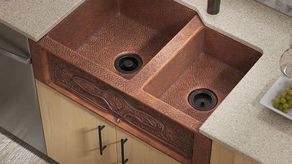 Hand-Hammered Copper Sinks