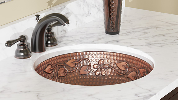 Undermount Copper Bathroom Sink