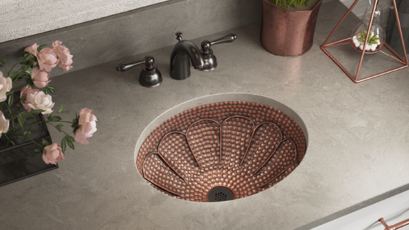 Our copper sinks come in a multitude of installation options for any room.