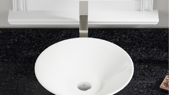 Daily upkeep will keep white porcelain sinks glossy and beautiful for decades to come.