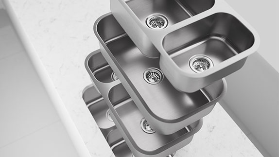 Fabricator Series Sinks are Available in Four Styles