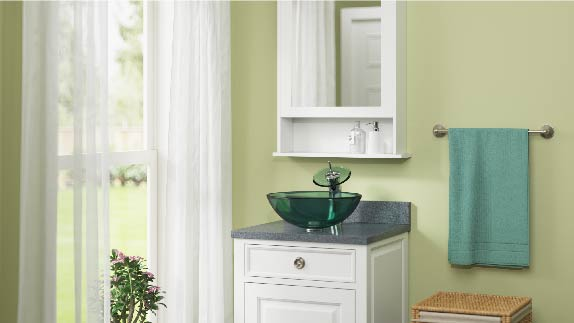 Glass bathroom sinks are constructed from tempered glass