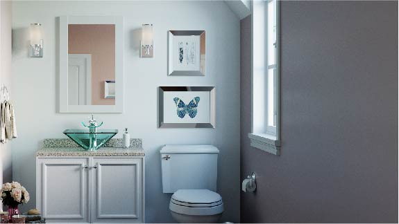 Glass vessel bathroom sinks are available in a variety of shapes and colors