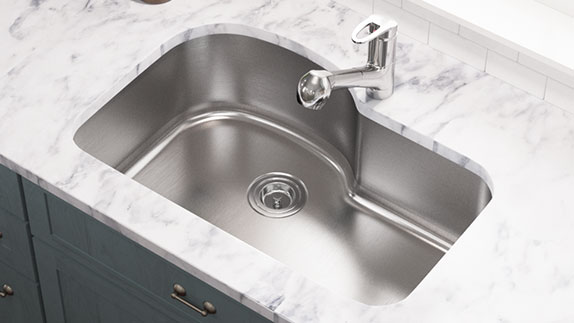 Single Bowl Sinks are Available in Many Size Options