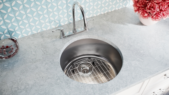 The stainless steel bar sinks are easy to clean and maintain