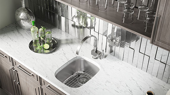 Cleaning and caring for a stainless steel sink is simple.