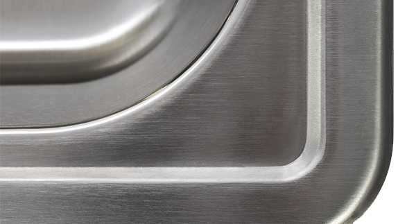 Topmount Sinks Feature A Brushed Satin Finish to Conceal Any Scratches Over Time