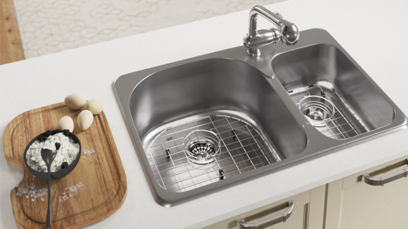 Sink Grids are One of Many Available Accessories for Topmount Sinks