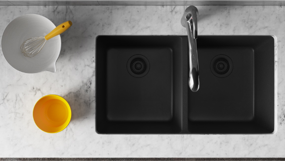 MR Direct 14 gauge stainless steel sinks offer rugged durability with modern flair.