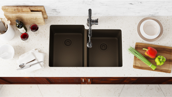 Our 14 gauge sinks offer a range of benefits and features, including fitted accessories