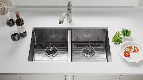 Undermount Sinks Sit Below the Countertop Edge
