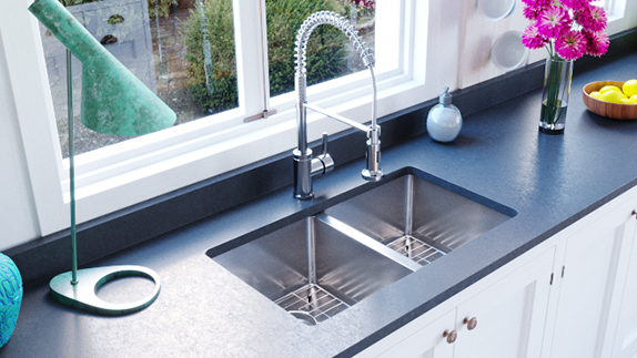 Rinse Your Undermount Sink with Water and Towel Dry for an Everyday Clean