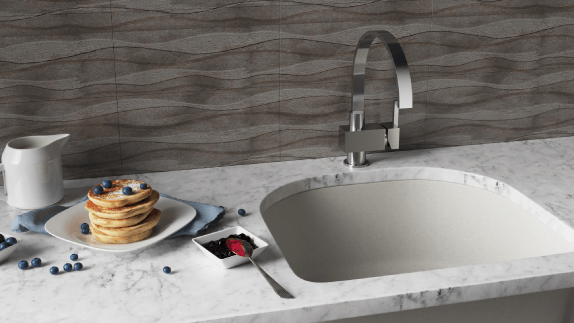 Our undermount quartz sinks bring a modern and stylish flair to any kitchen