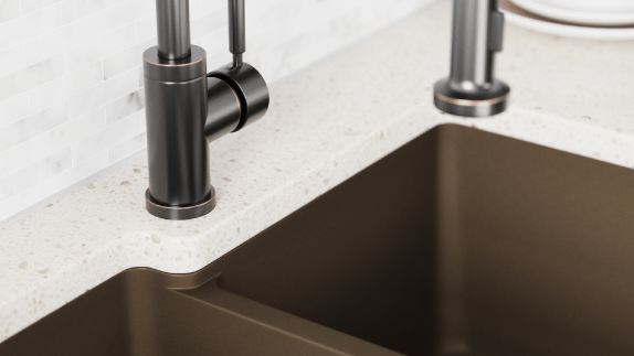 Matching accessories and durability are all just a part of our quartz sinks