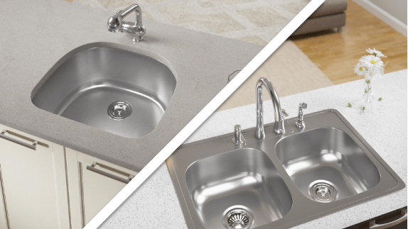 Our USA made sinks come in both top-mount and undermount options