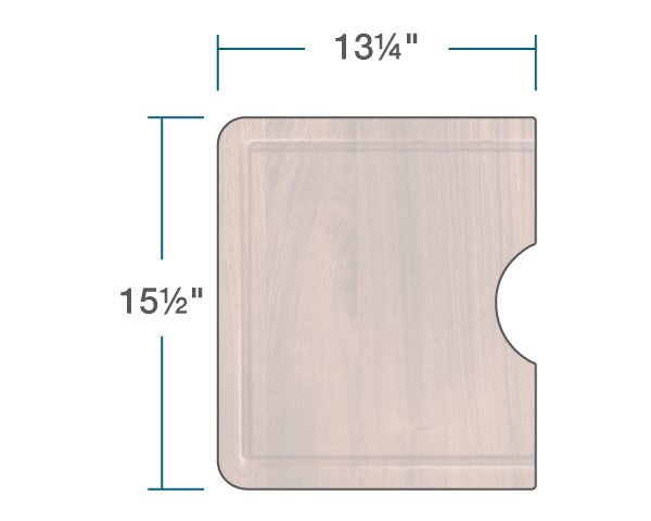 "The dimensions of CB-808-O-SP Sapele Cutting Board is 13 1/4"" x 15 1/2"" x 1""."