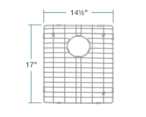 "The dimensions of G-3322D-O Sink Grid is 14 1/2"" x 17"" x 1""."