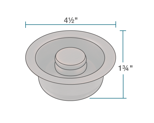 "The dimensions of ST-CF Copper Flange is 1 3/4"" x 4 1/2"" x 0""."