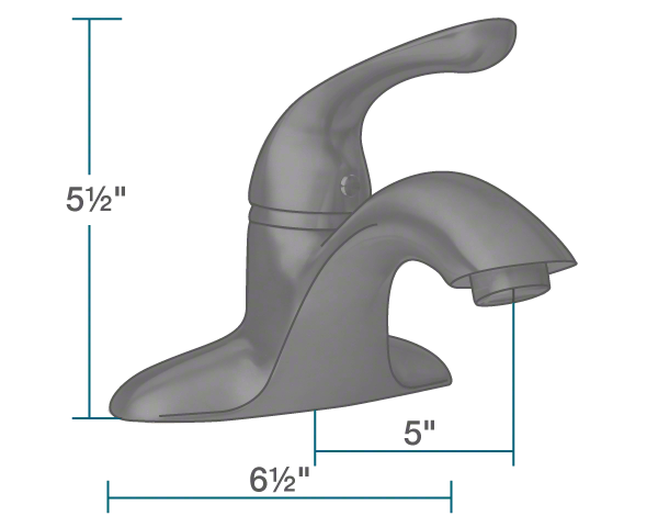 "The dimensions of 701-ABR Antique Bronze Single Handle Bathroom Faucet is 6 1/2"" x 5"" x 5 1/2""."