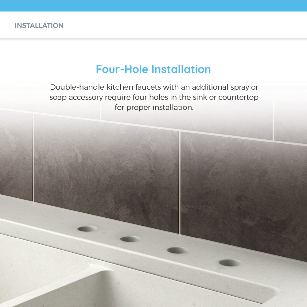 Holes in countertop for sink installation