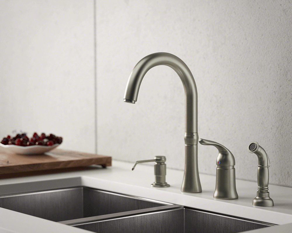 710 Bn Brushed Nickel 4 Hole Kitchen Faucet