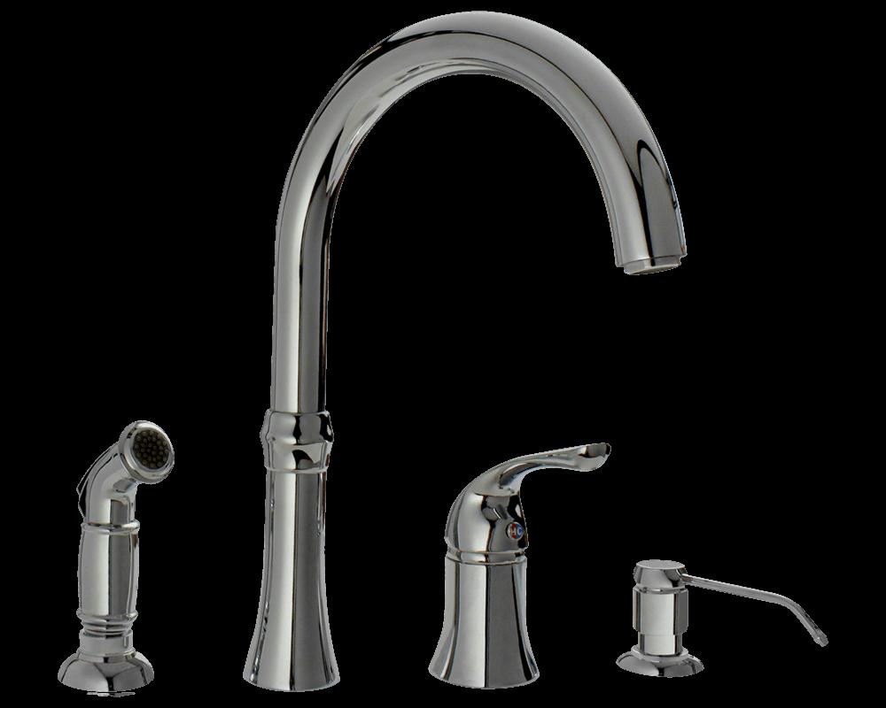 710 c chrome four hole kitchen faucet