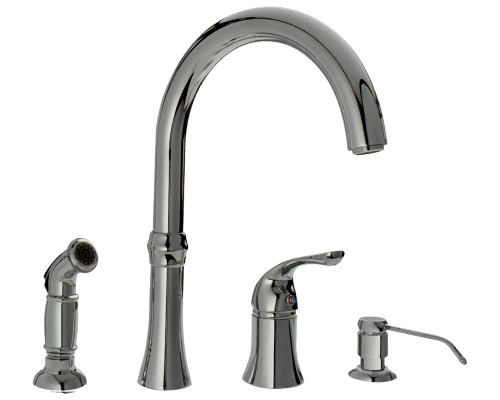 710 C Chrome Four Hole Kitchen Faucet