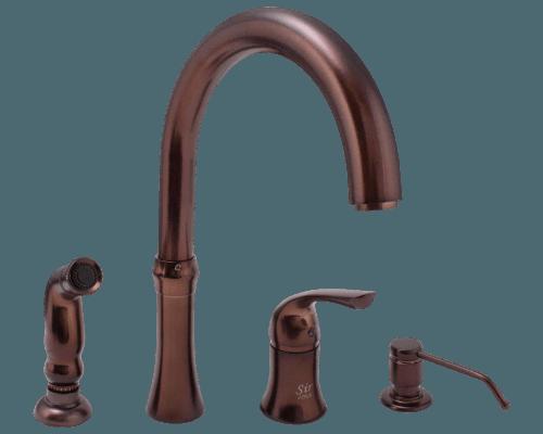 710 orb oil rubbed bronze 4 hole kitchen faucet