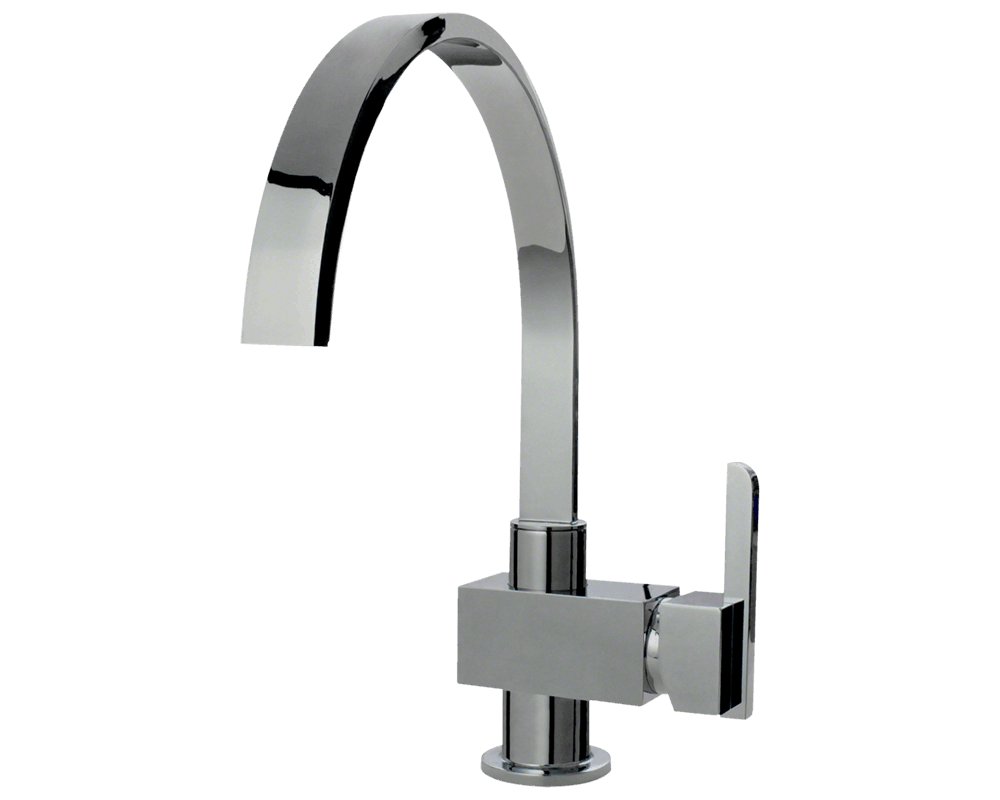 7 Faucet Finishes For Fabulous Bathrooms: 712-C Chrome Single Handle Kitchen Faucet