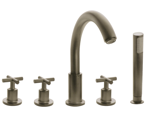 716-BN Brushed Nickel Roman Tub Faucet with Body Spray