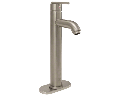 718-BN Brushed Nickel Vessel Faucet