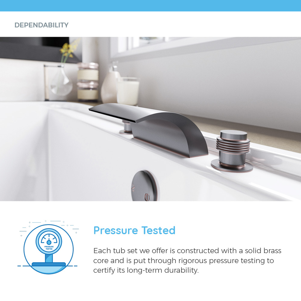 Pressure-tested tub set and white bath