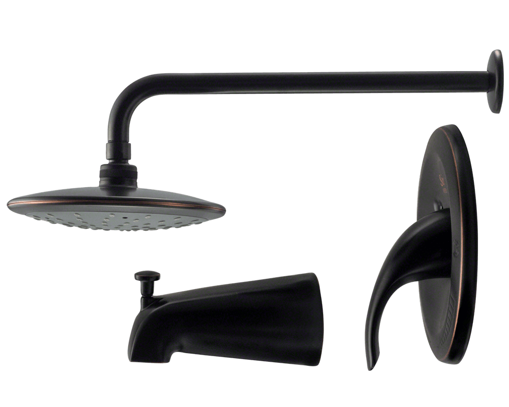 750 Orb Oil Rubbed Bronze 3 Piece Rain Head Shower Set