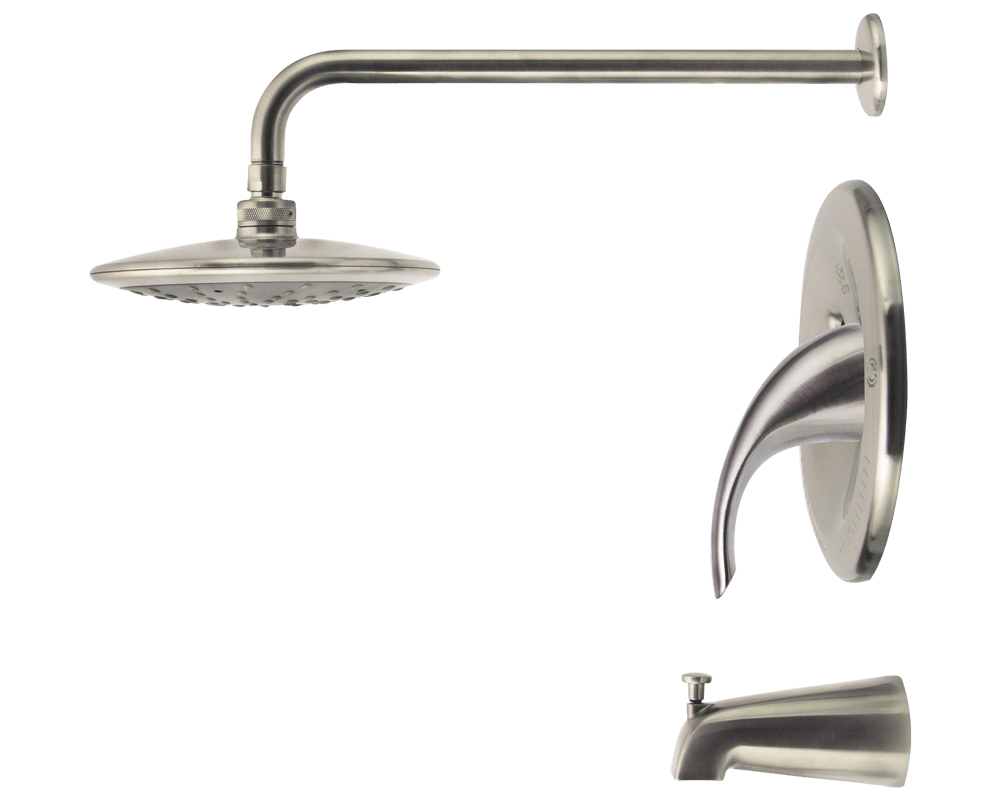 750-BN Brushed Nickel 3 Piece Rain Head Shower Set