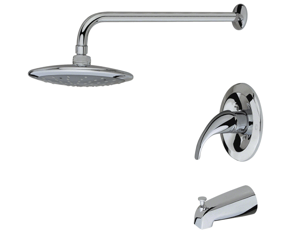 750-C Chrome 3 Piece Rain Head Shower Set