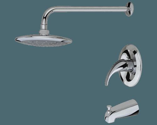 750 C Chrome 3 Piece Rain Head Shower Set