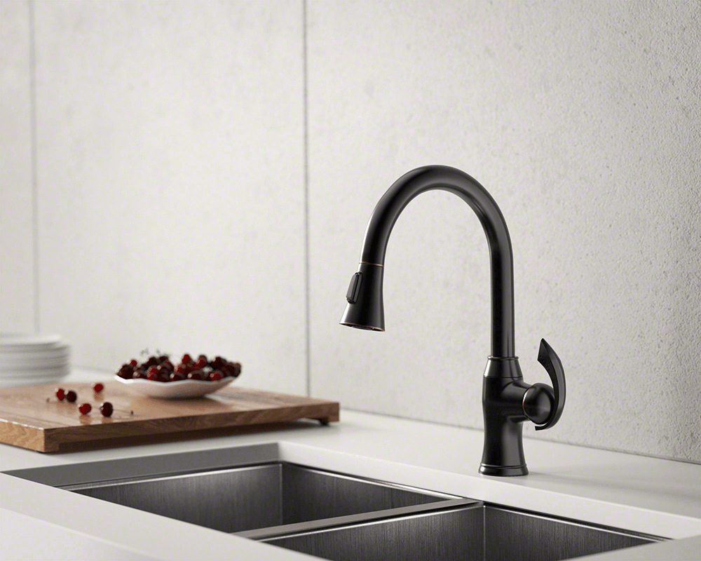 772 Orb Oil Rubbed Bronze Pull Down Kitchen Faucet