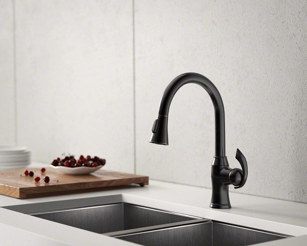 772 Abr Antique Bronze Pull Down Kitchen Faucet