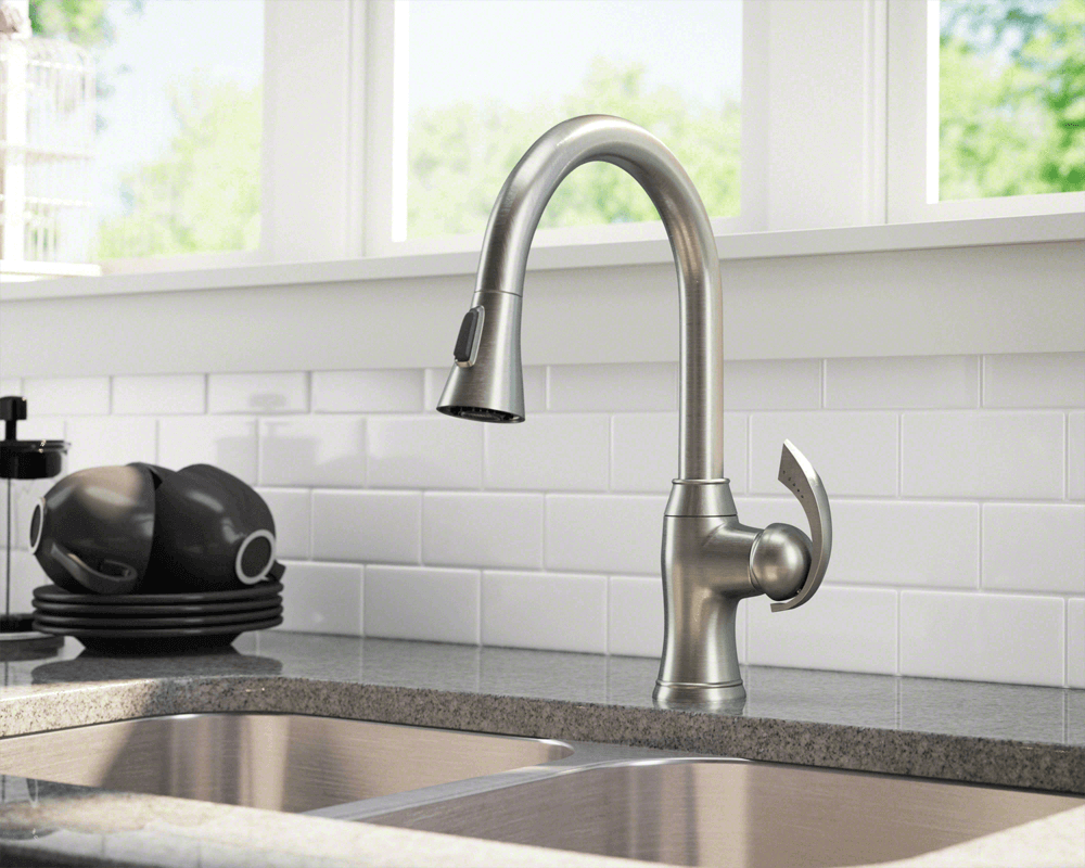 772 Bn Brushed Nickel Pull Down Kitchen Faucet