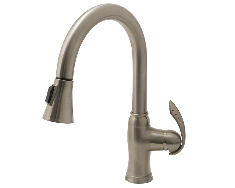 BN Brushed Nickel Pull Down Kitchen Faucet - Oil rubbed bronze pull down kitchen faucet
