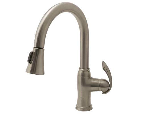 MR Direct 772-BN 772-BN Brushed Nickel Pull Down Kitchen Faucet