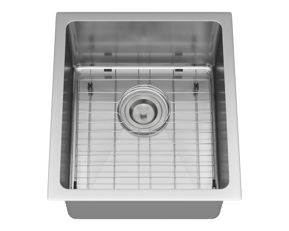 1618 Alt Image: 304-Grade Stainless Steel Undermount One Bowl Limited Lifetime Kitchen Sink